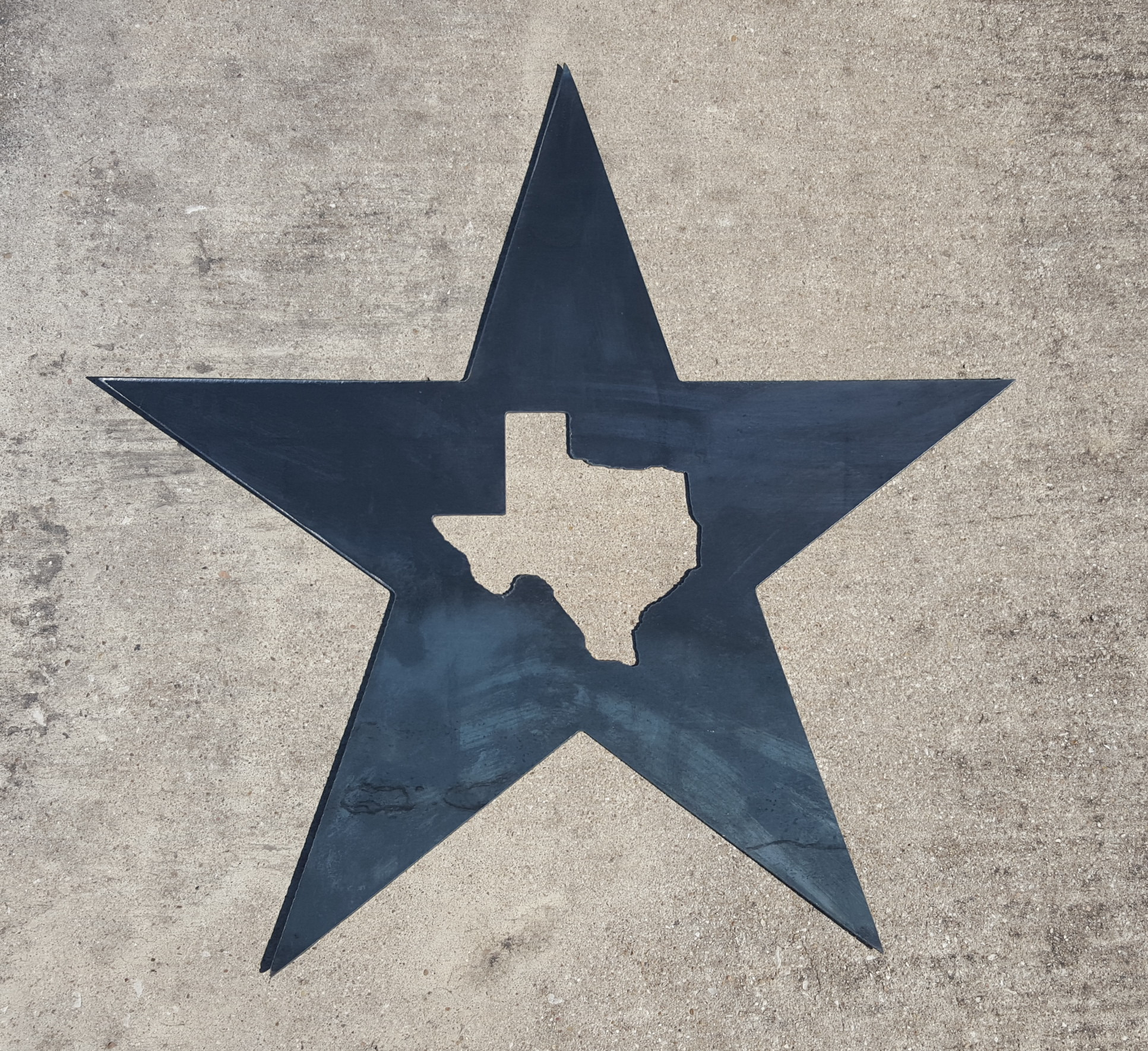 Star Wall Art Texas Star Metal Wall Art  Blue Collar Welding Llc